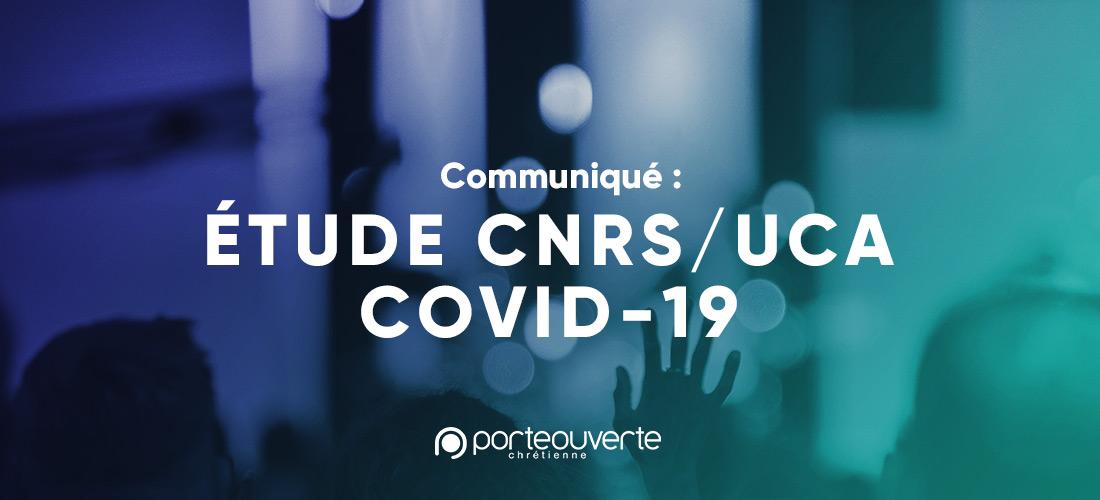 Communiqué: Etude CNRS / UCA COVID 19