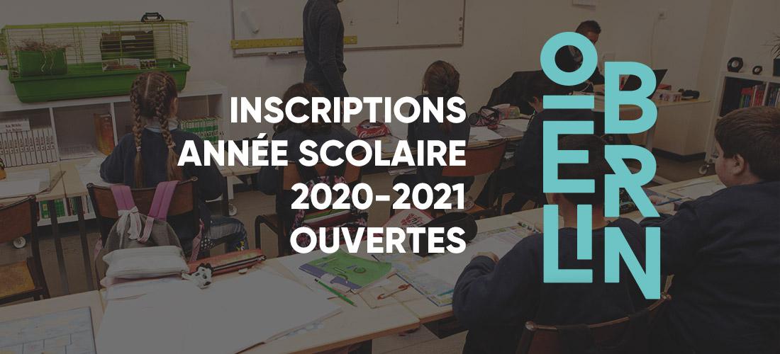 Inscription école oberlin 2020-2021