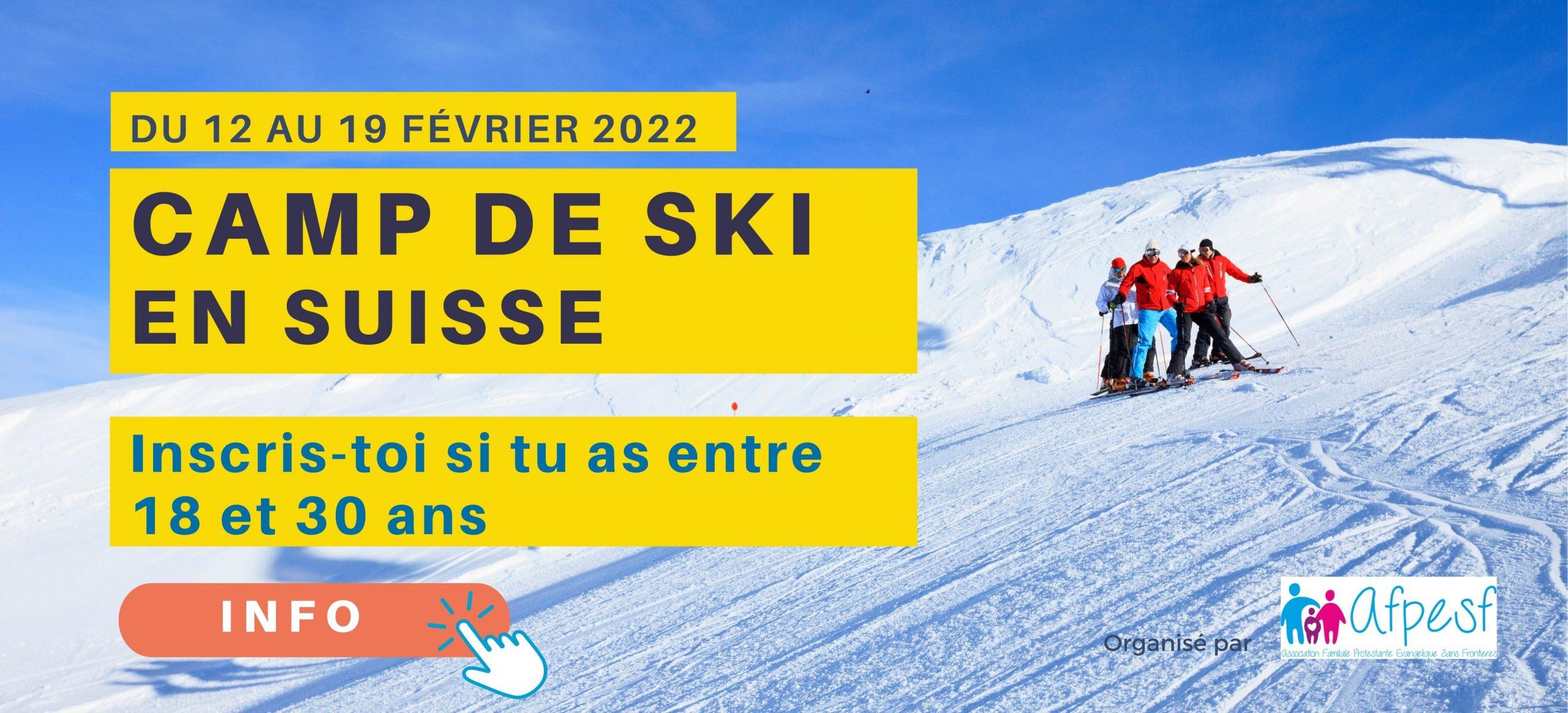 Camp de ski pour les 18 à 30 ans en Suisse